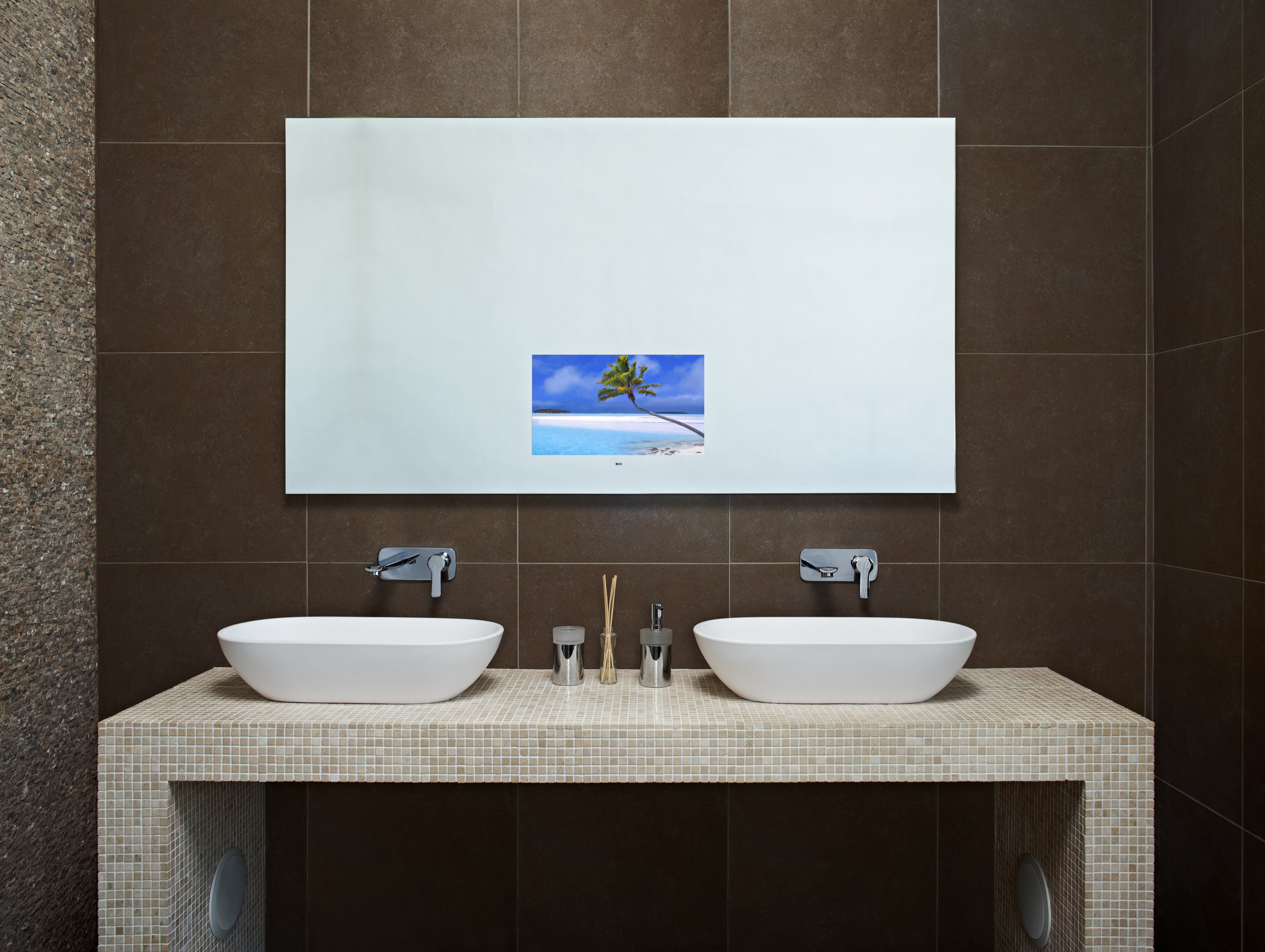 TechVision Waterproof Televisions for Kitchens Bathrooms