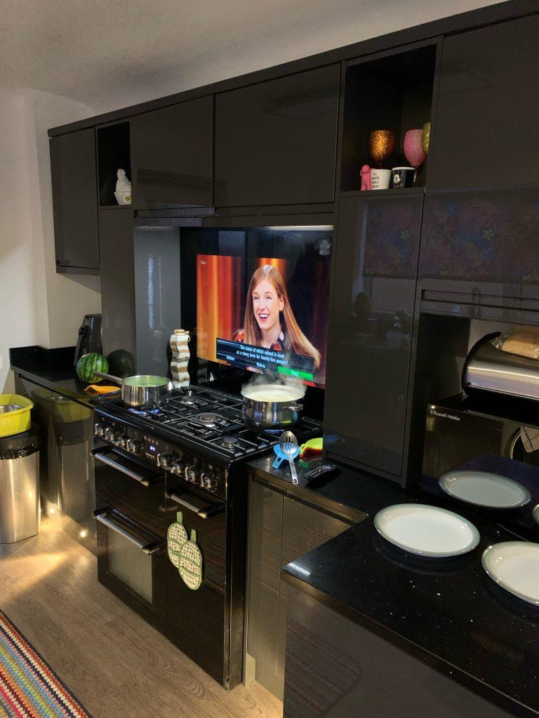 """Sony 43"""" kitchen splashback"""